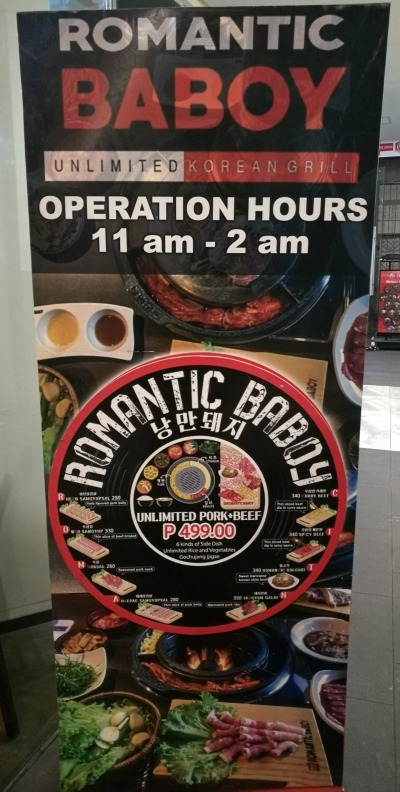 Romantic Baboy Operating Hours
