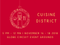 Visit the Cuisine District at A Circuit Holiday Night Market – Nov. 16-18!