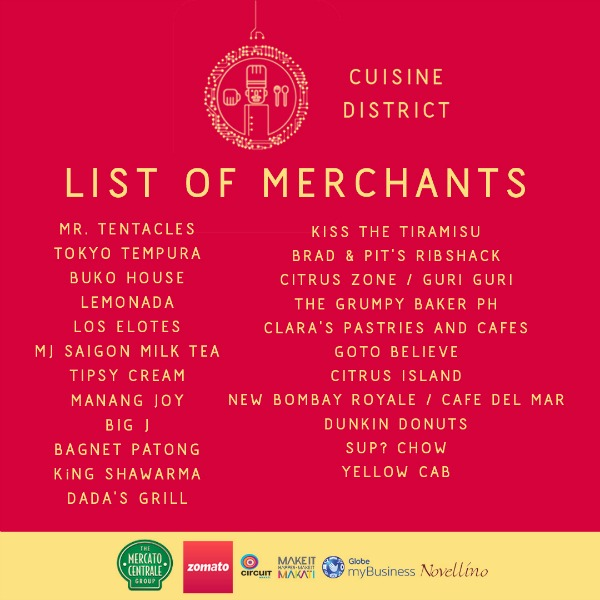 Cuisine District Circuit Night Market List of Merchants