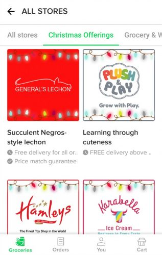 Honestbee Christmas Offerings 2018 App