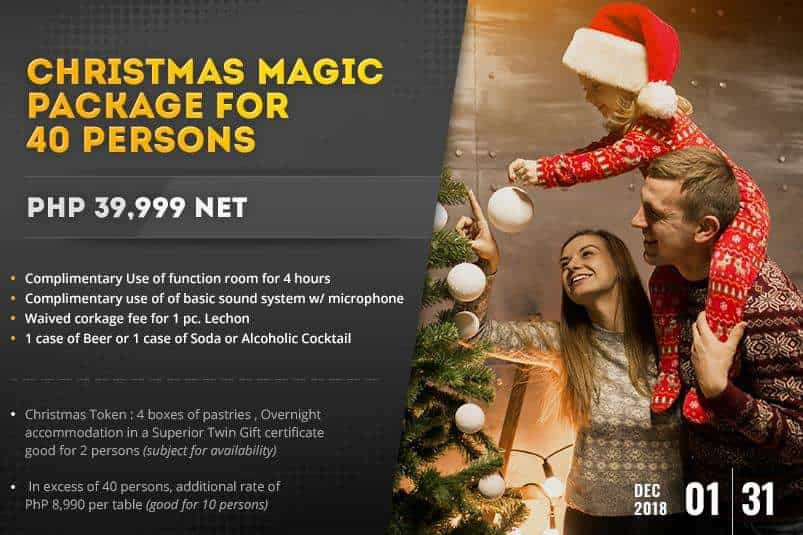 Hotel Benilde Christmas Package 40 pax