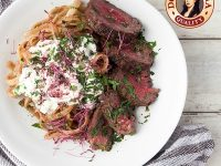 Fettucine with Seared Beef and Sour Cream by Doña Elena Brand Ambassaodr Kalel Chan