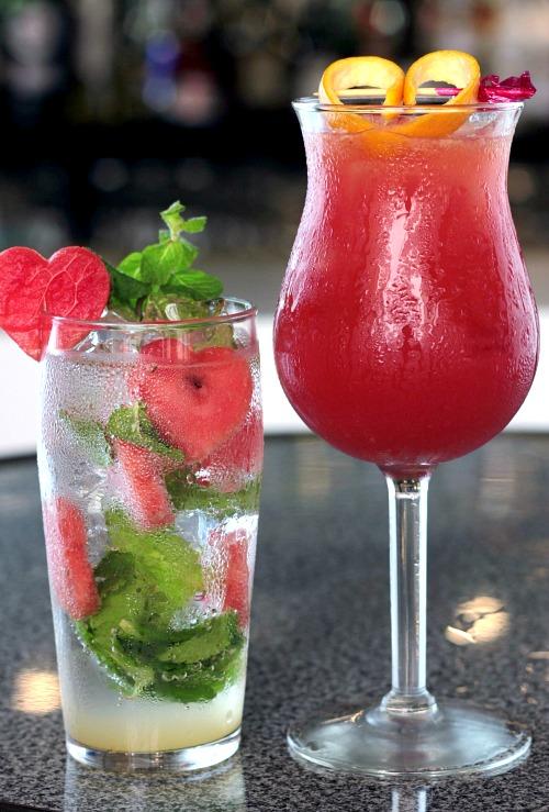 Aperol Kiss and Watermelon Mojito at Bar One